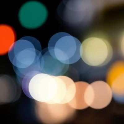 「街の光」の写真素材