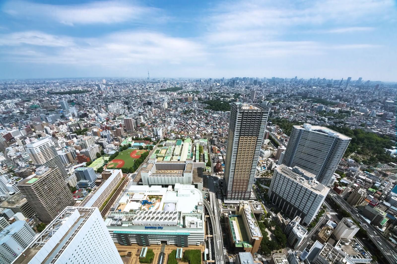 「サンシャイン60からスカイツリーや新宿を一望」の写真