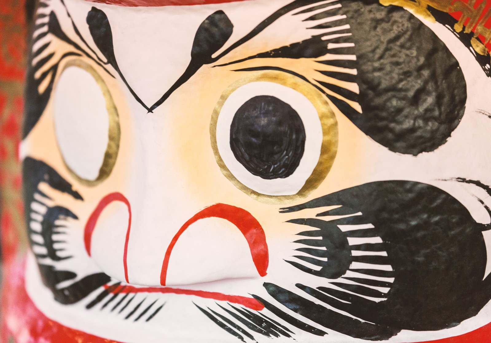 「片目が塗られていない達磨」の写真