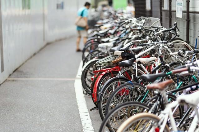 自転車置き場の写真