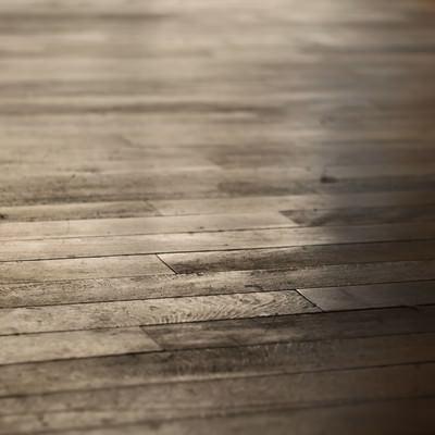 反射した木の床の写真
