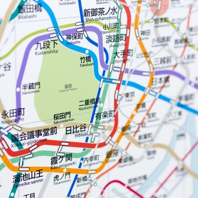 「皇居:東京メトロ沿線」の写真素材