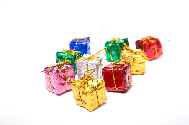 四角いプレゼントボックスの写真
