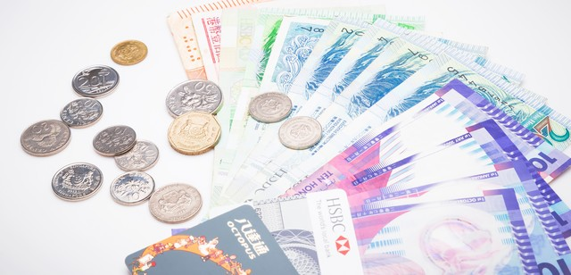 シンガポールドルなどの外貨の写真