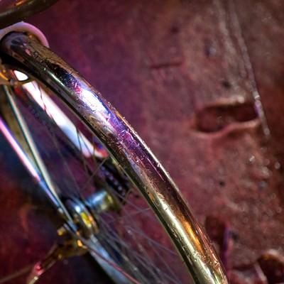 「雨と自転車」の写真素材