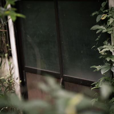 「長い時間、扉が閉まったままの民家」の写真素材