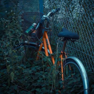 「置き捨てられた自転車」の写真素材