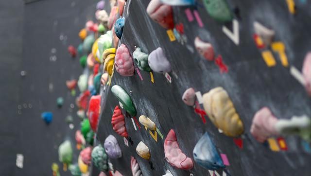 ボルダリングの壁の写真