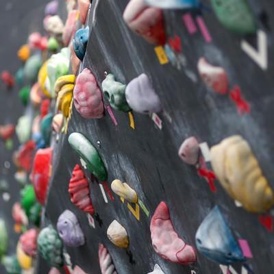 「ボルダリングの壁」の写真素材