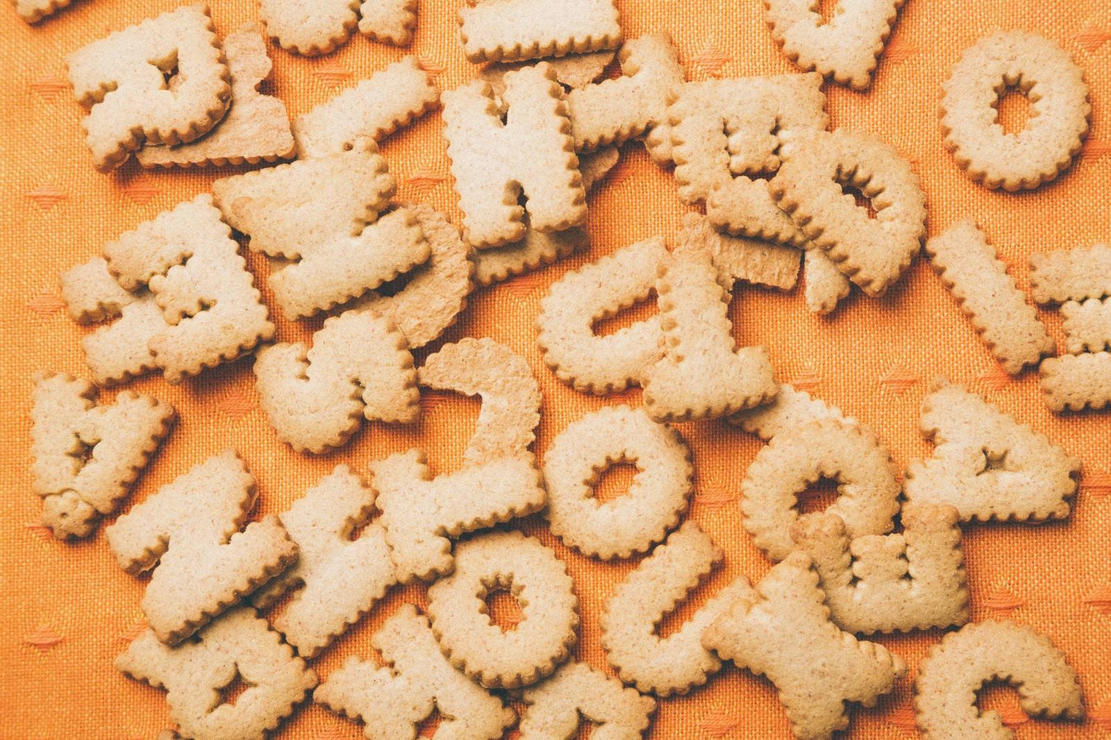 「英単語クッキー英単語クッキー」のフリー写真素材を拡大
