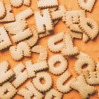 「英単語クッキー」の写真素材