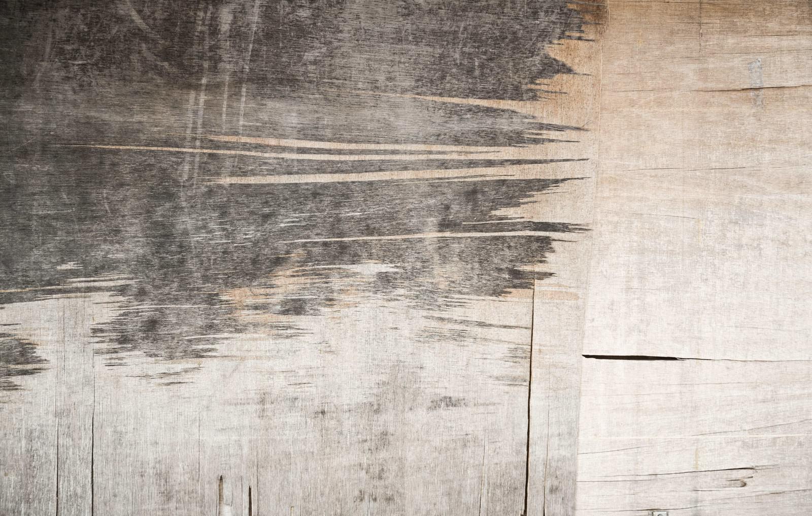 「剥がれたベニアの壁(テクスチャー)」の写真