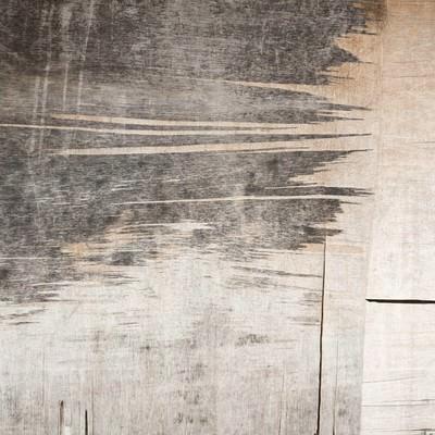 「剥がれたベニアの壁(テクスチャー)」の写真素材
