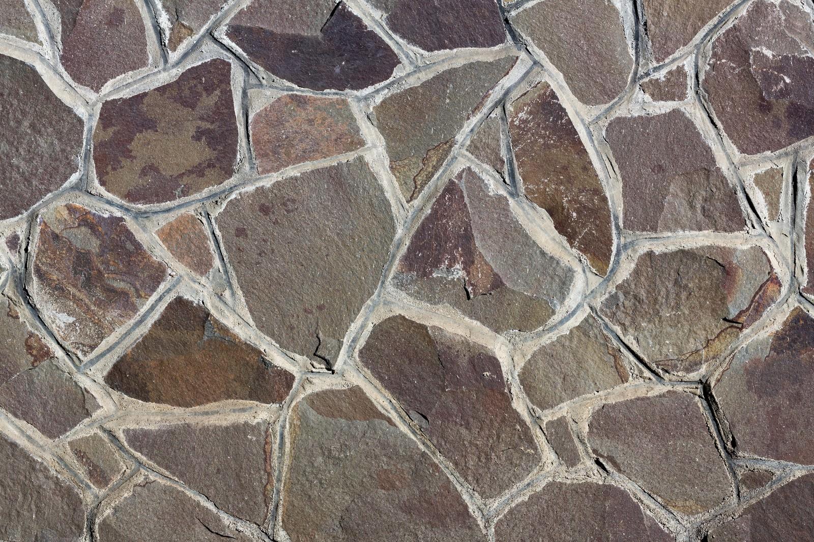 「乱雑な石の壁」の写真