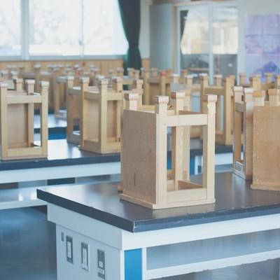 「放課後の理科室」の写真素材
