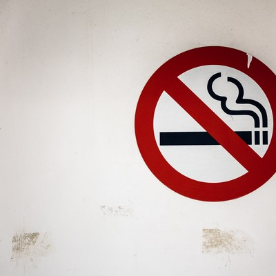 禁煙ゾーンの写真