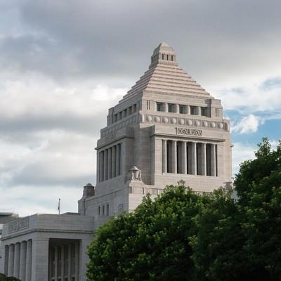 「国会議事堂横」の写真素材