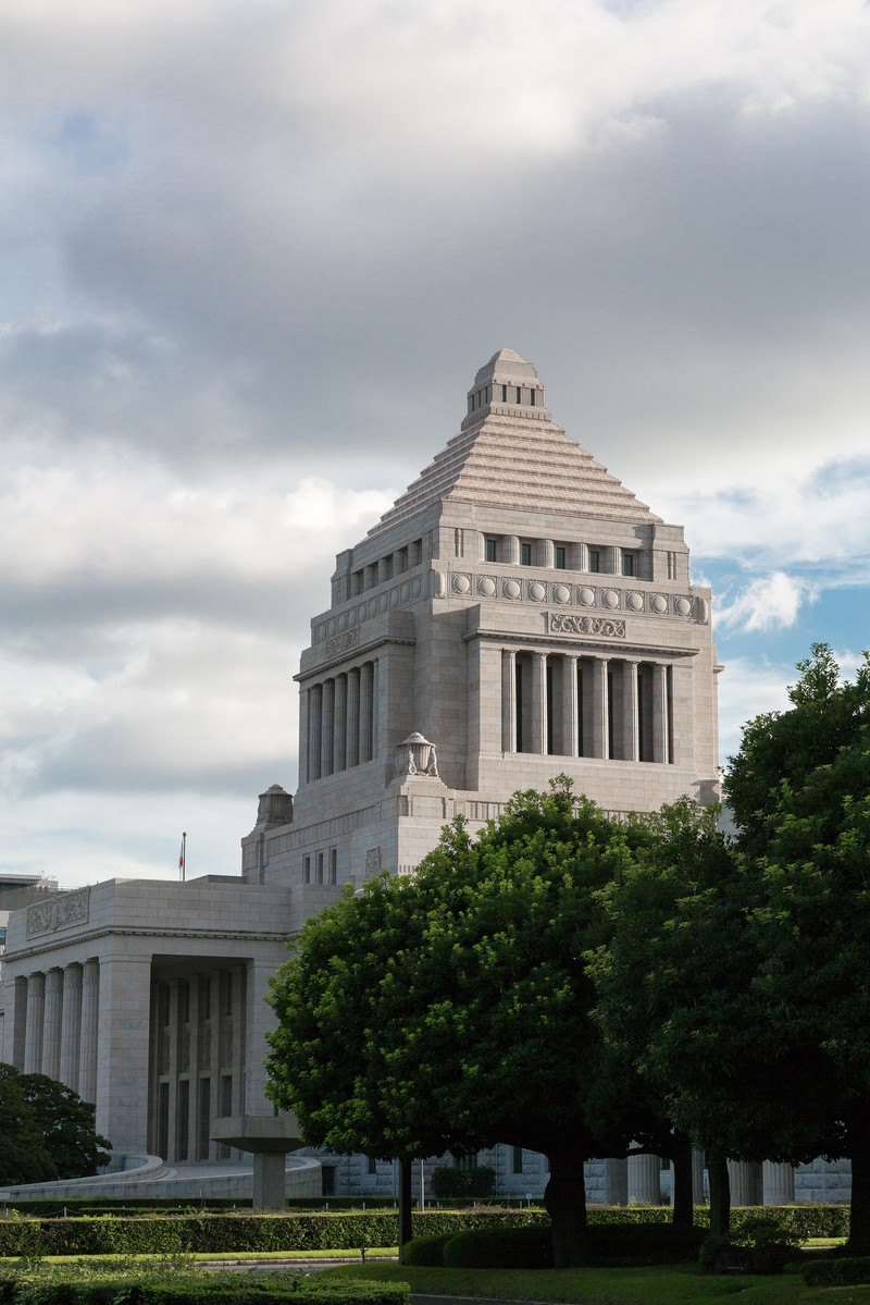 「国会議事堂横」の写真