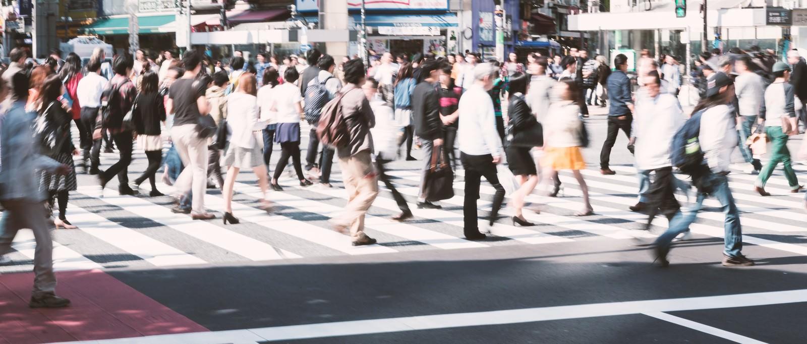 「渋谷の人混み渋谷の人混み」のフリー写真素材を拡大