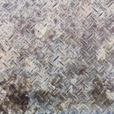 「汚れて錆びた鉄の足場(テクスチャー)」の写真素材