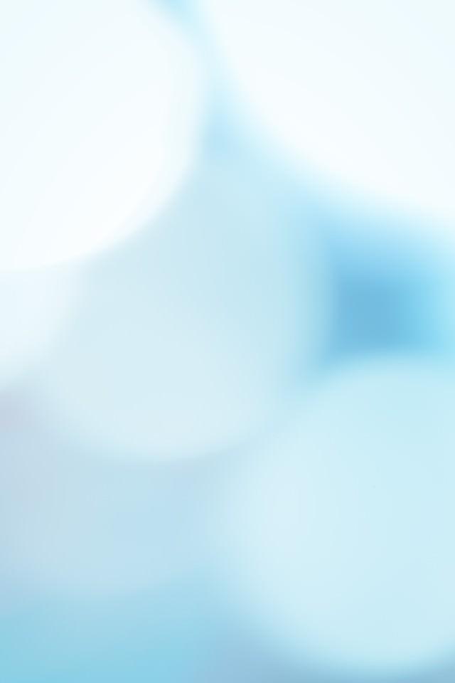 青い光に包まれての写真