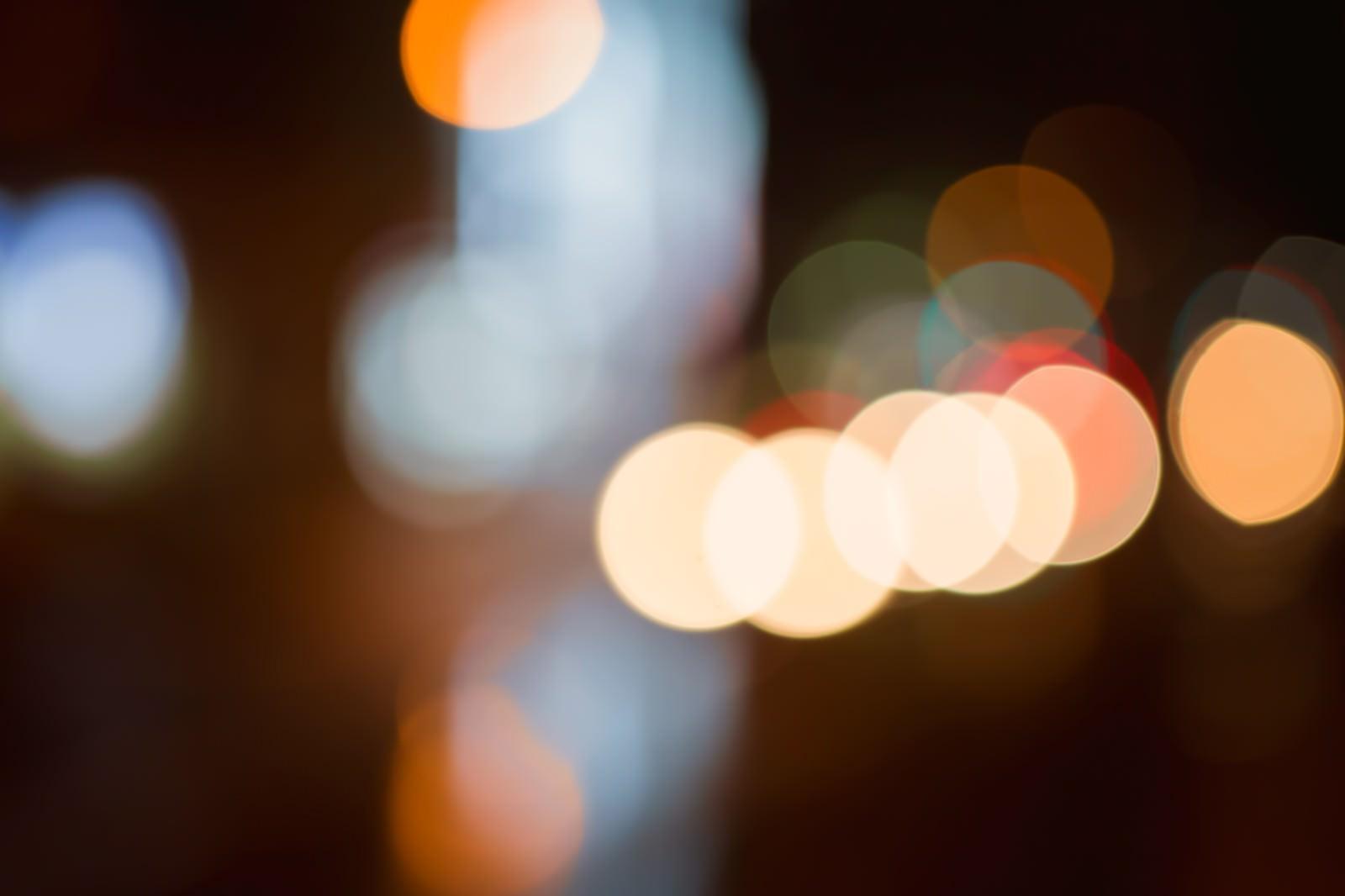 「ボケた光」の写真