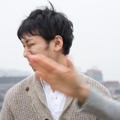 「キモい彼氏に平手打ち」の写真素材