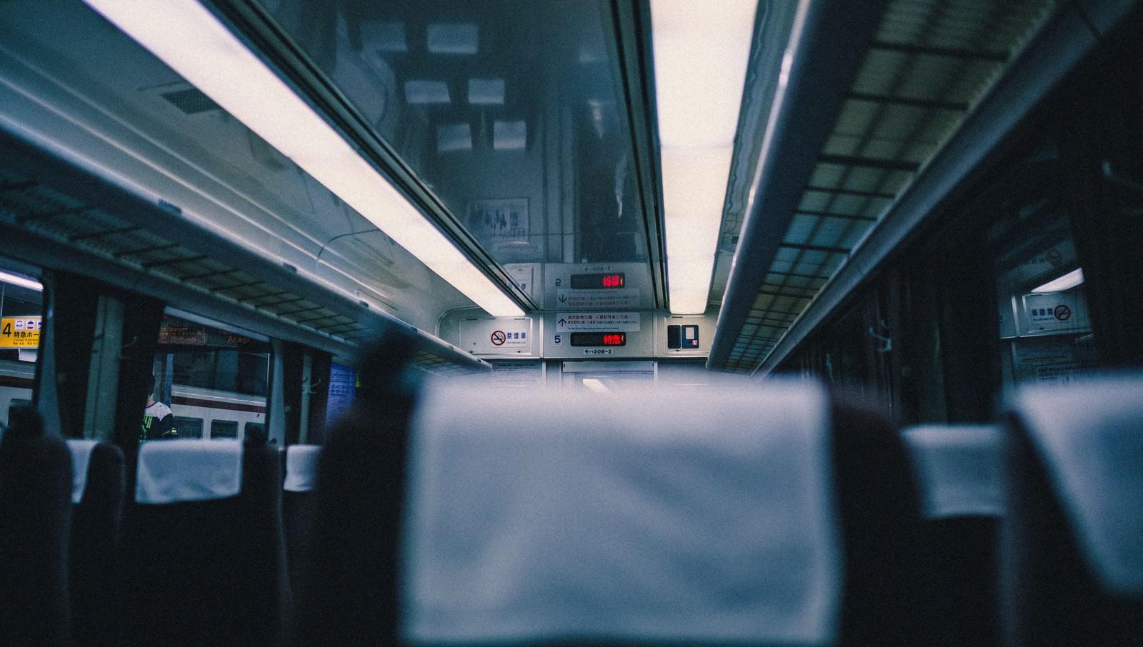 「特急電車の座席」の写真