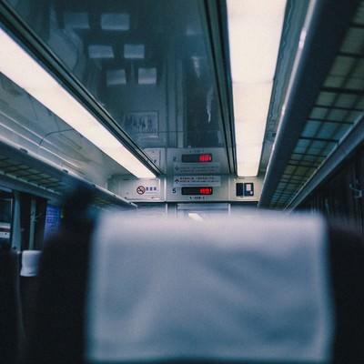「特急電車の座席」の写真素材