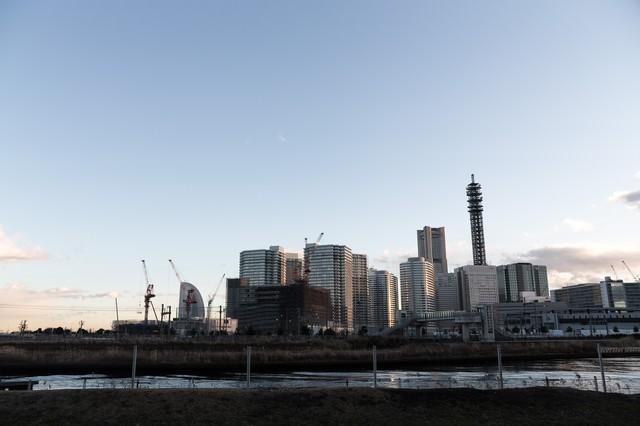 横浜ベイクォーターからのみなとみらいの写真