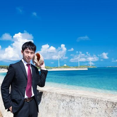 「西の浜海岸と貝Phone」の写真素材