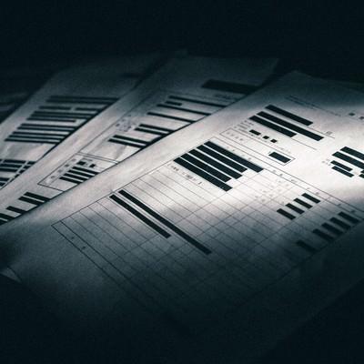 「黒塗りで隠された見積書」の写真素材
