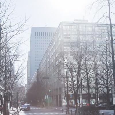 「日差しが温かい街並み」の写真素材