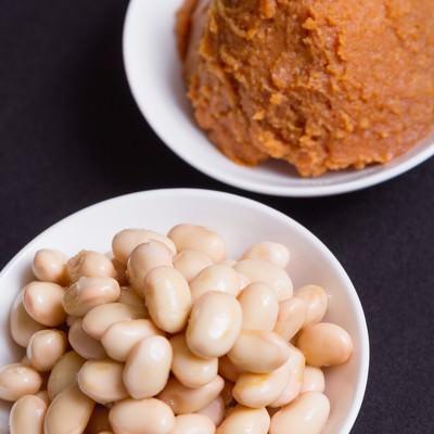 「味噌と豆」の写真素材