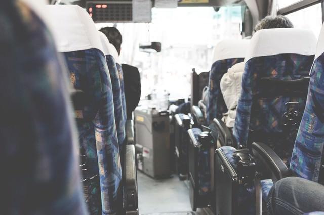高速バスの車内からの写真