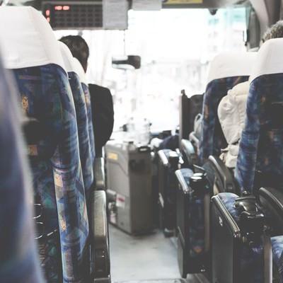 「高速バスの車内から」の写真素材