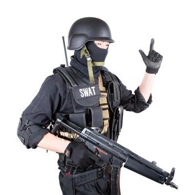 「ピストル(Pistol)のハンドサイン」の写真素材