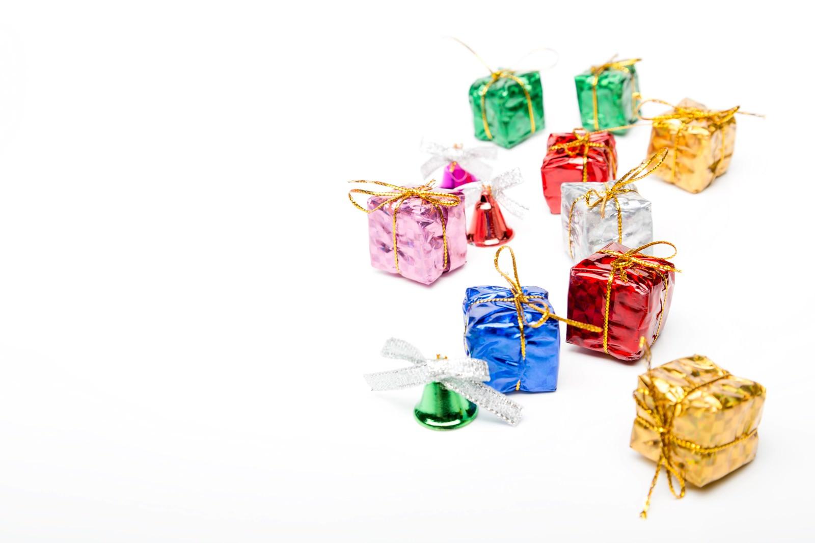 「贈り物プレゼントとベル」の写真