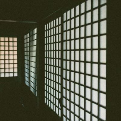「廊下の障子」の写真素材
