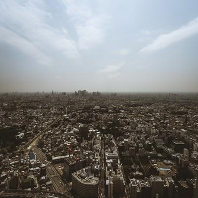 「東京の街並み(セピア)」の写真素材