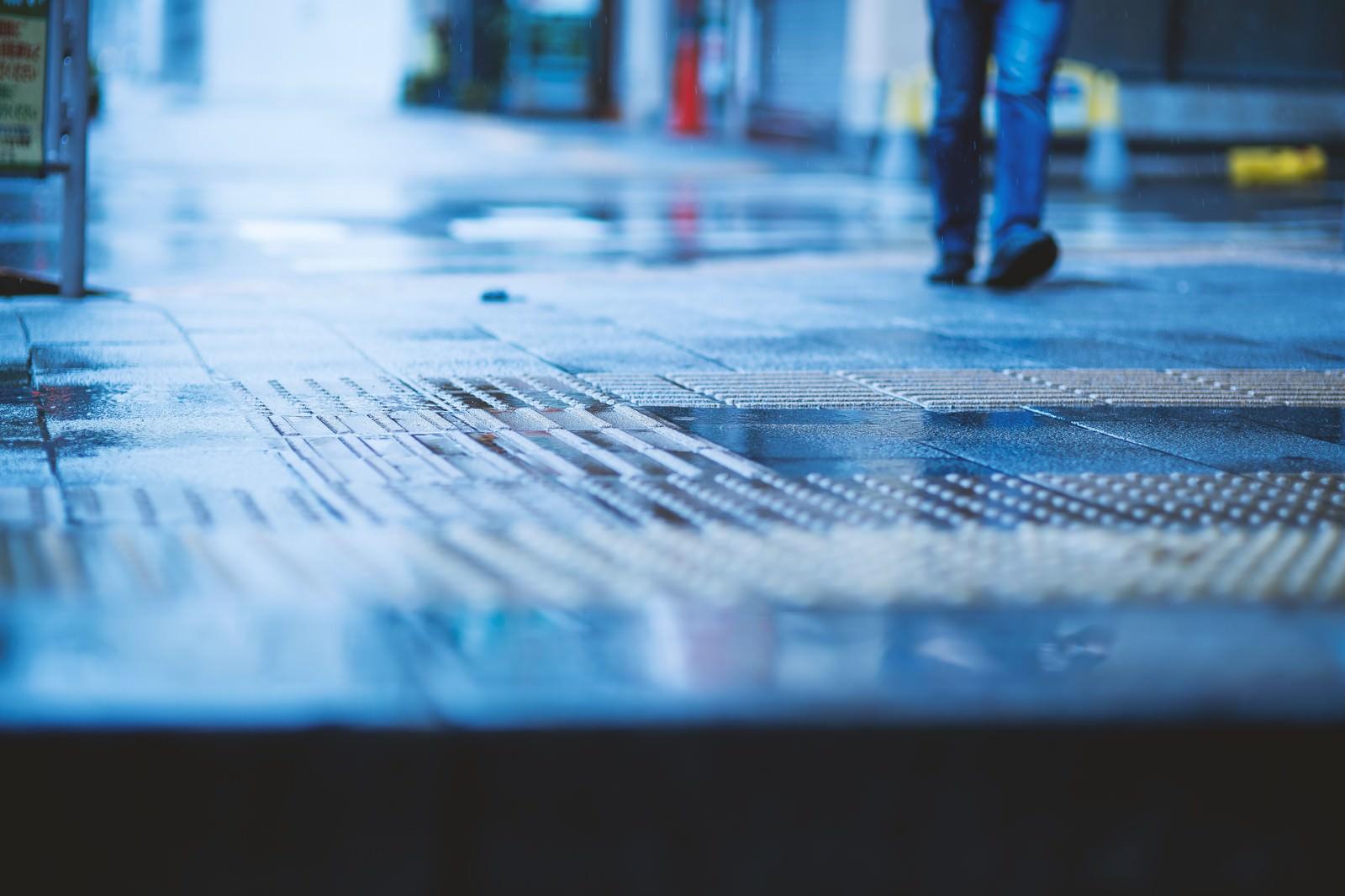 「雨と足元」の写真