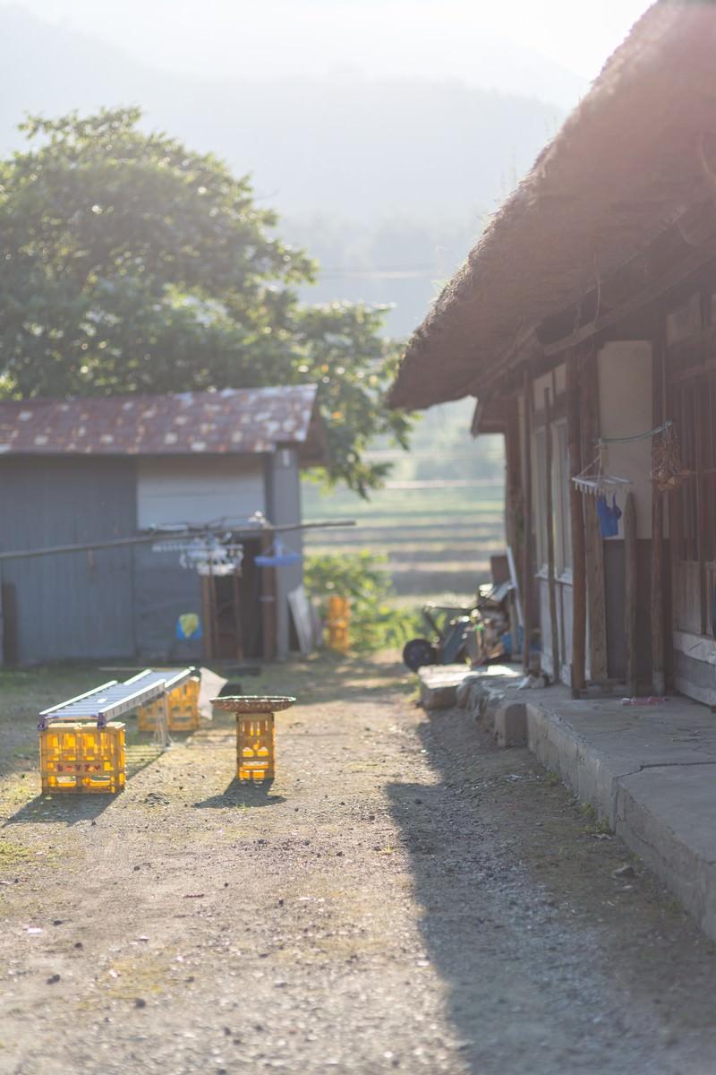 「古民家と庭先 | ぱくたそフリー素材」の写真