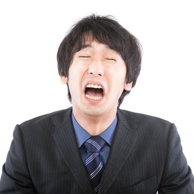 「この日本・・・世の中を変えたい男性」の写真素材