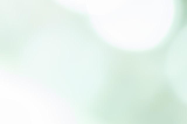 淡く緑の光の写真