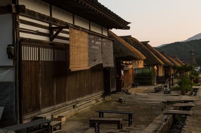 大内宿の夕暮れの写真
