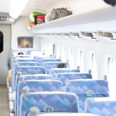 「新幹線の座席」の写真素材