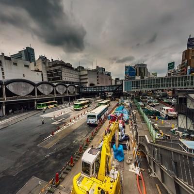「渋谷駅前工事中」の写真素材