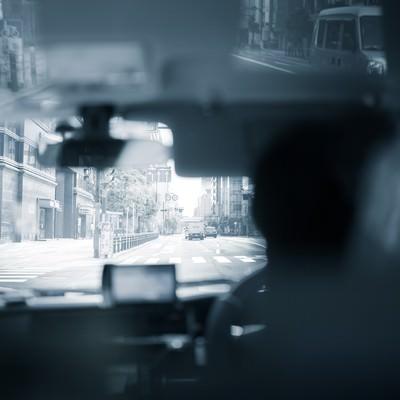 「タクシーの中から」の写真素材