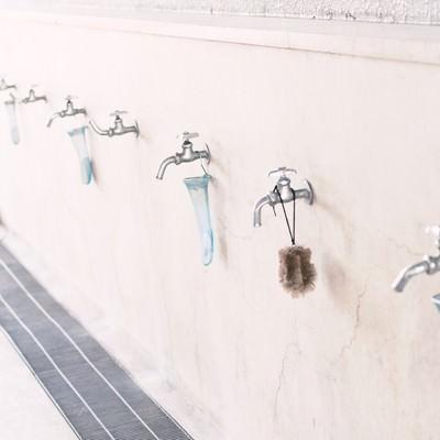 学校の手洗い場の写真