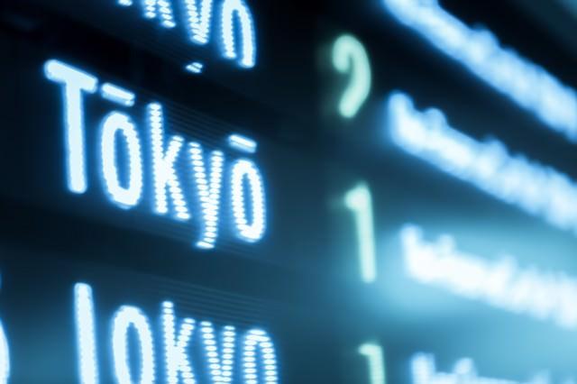 東京行き(電光案内板)の写真